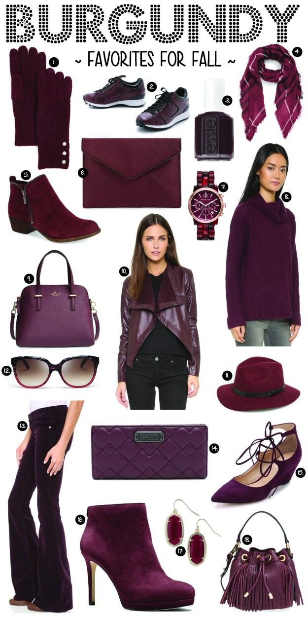 burgundy favorites for fall