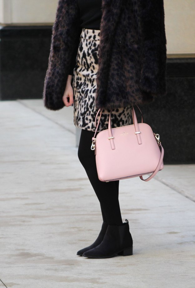 leopard skirt and faux fur 11