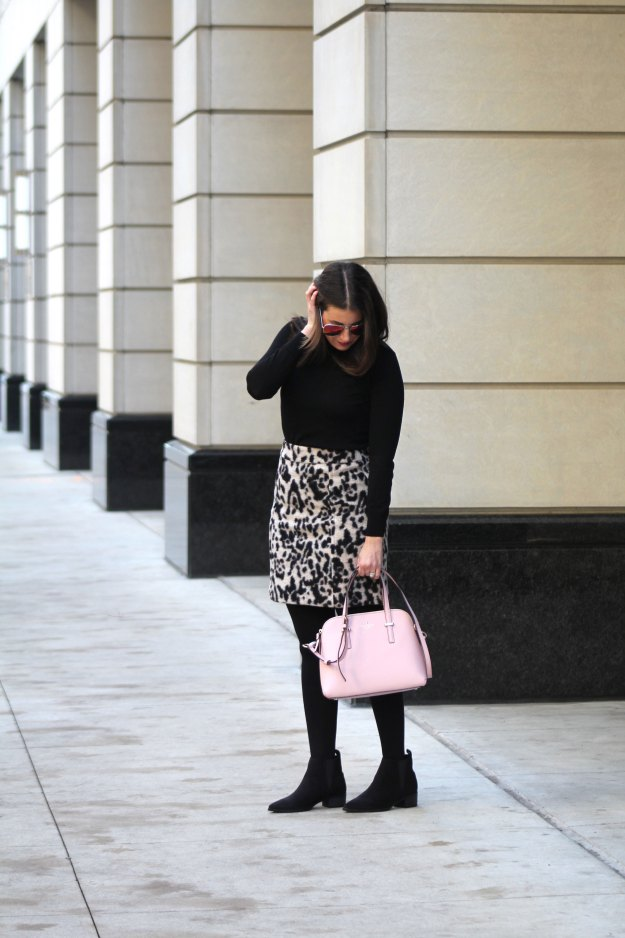 leopard skirt and faux fur 7