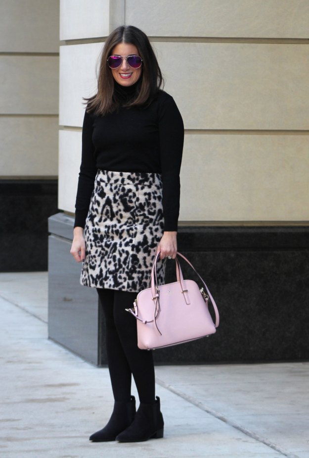 leopard skirt and faux fur 8