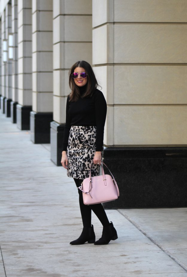leopard skirt and faux fur 9