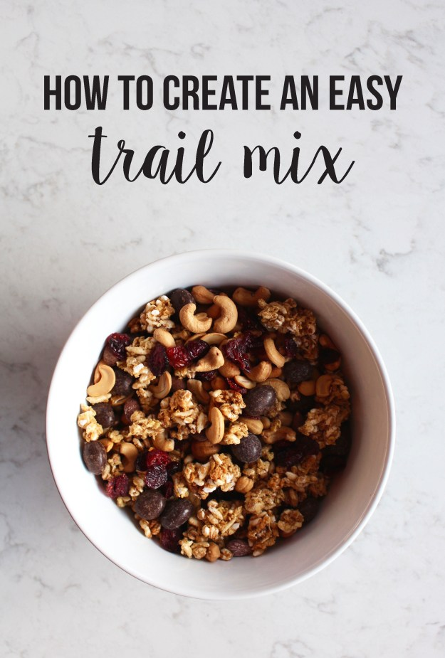 how to create an easy trail mix