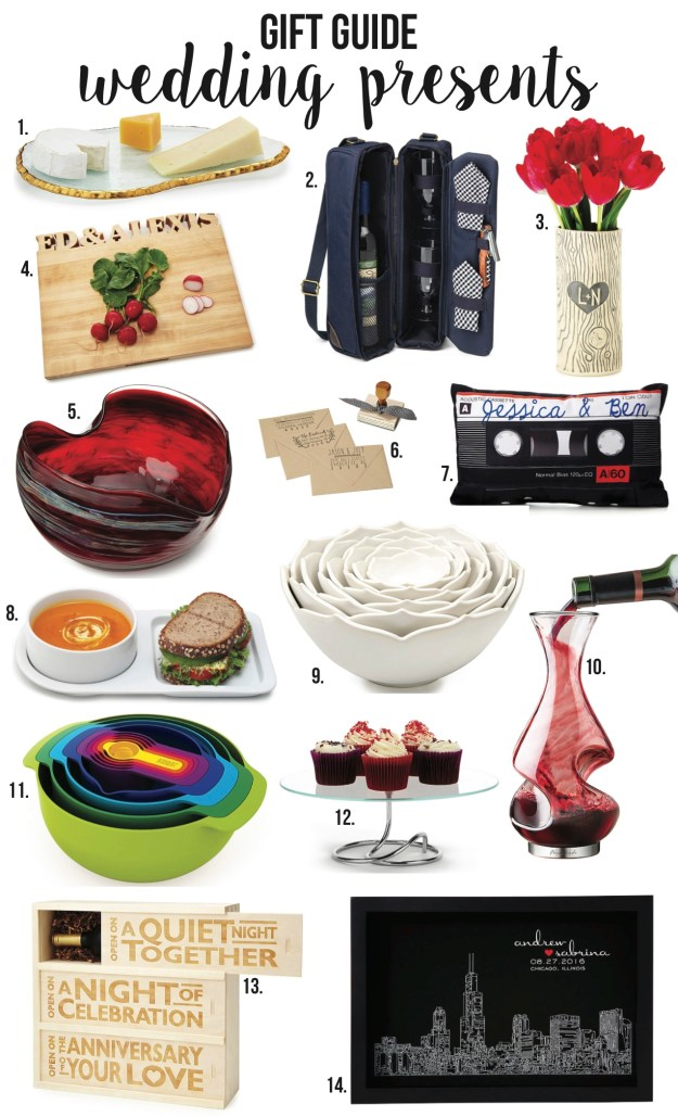 wedding present gift guide