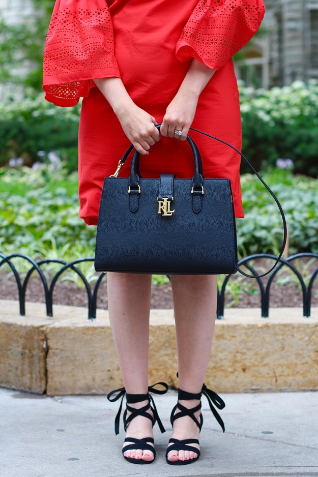 Black Handbag and Sam Edelman Sandals