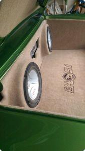 Speaker box lining