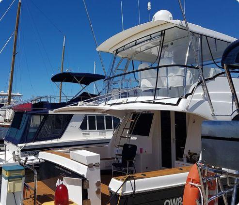 Boat clears black trim