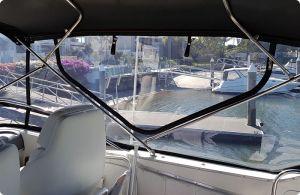 Flybridge Boat Clears