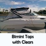boat bimini top and clears