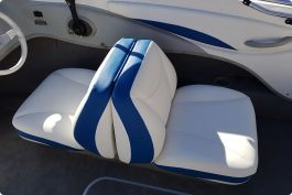 Blue White Boat Seats Upholstery