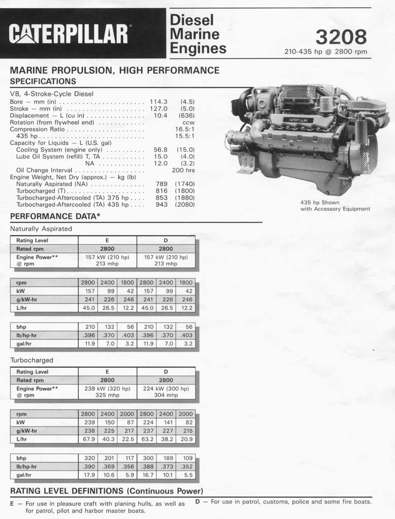 medium resolution of 3208t rblt marine engine
