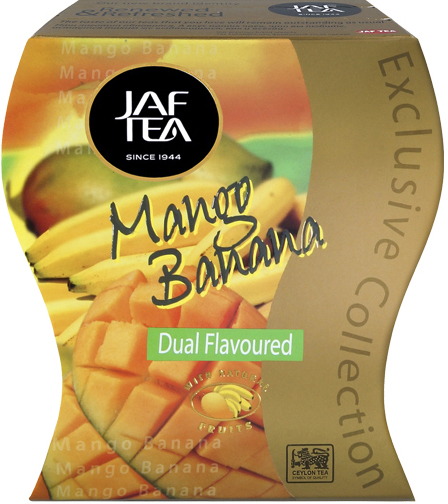 "JAFTEA (Джаф Ти)  черный чай ""Манго и банан"" (Mango Banana) 100g"