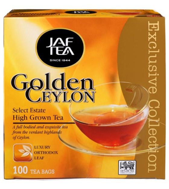 """JAFTEA (Джаф Ти)  черный чай """"Золотой Цейлон"""" (Golden Ceylon) 110 пакетиков по 2 гр."""