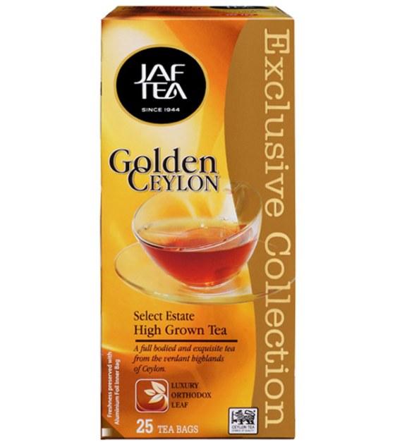 """JAFTEA (Джаф Ти)  черный чай """"Золотой Цейлон"""" (Golden Ceylon) 25 пакетиков по 2 гр."""
