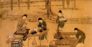 Ручная обработка чая в Китае