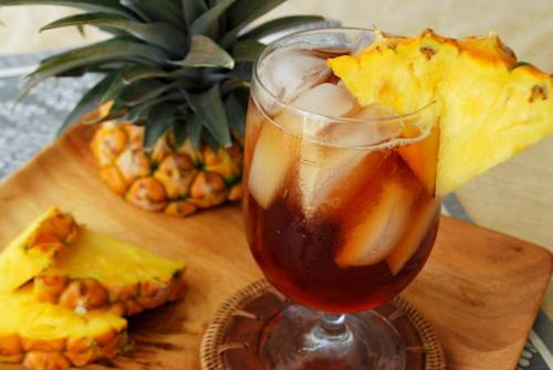 Рецепты с использованием чая. Чай «по-мадридски»с ананасом