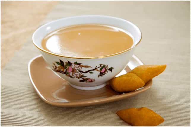 Рецепты с использованием чая. Калмыцкий чай с молоком.