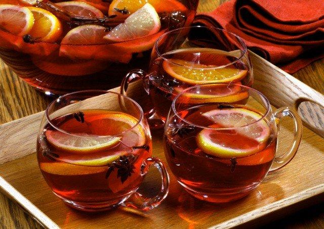 Рецепты с использованием чая. Русский горячий пунш.