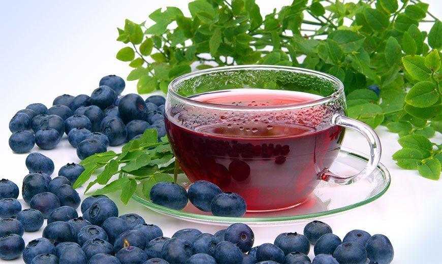 Рецепты с использованием чая.  Черничный чай (Blueberry Tea)