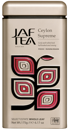 "JAFTEA (Джаф Ти)  черный чай ""Цейлон Суприм"" (Ceylon Supreme) жестяная банка 175g"