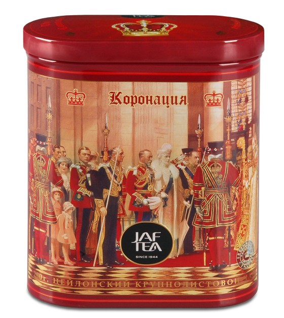 "JAFTEA (Джаф Ти)  черный чай ""Коронация"" (Coronation) жестяная банка 200g"