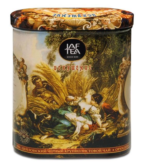 """JAFTEA (Джаф Ти)  черный чай """"Искушение"""" (Temptation) жестяная банка 150g"""