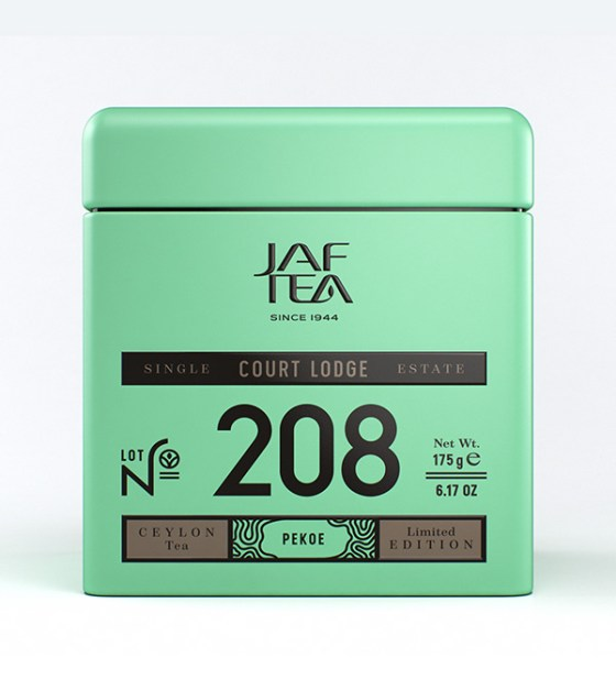 "JAFTEA (Джаф Ти)  черный чай №208 ""КОРТ ЛОДЖ"" (Court Lodge) Pekoe жестяная банка 100g"