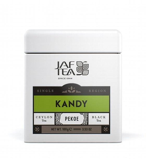 "JAFTEA (Джаф Ти)  черный чай ""КАНДИ"" (Kandy) Pekoe жестяная банка 100g"