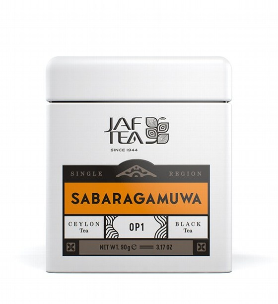 "JAFTEA (Джаф Ти)  черный чай ""САБАРАГАМУВА"" (Sabaragamuwa) OP1 жестяная банка 90g"