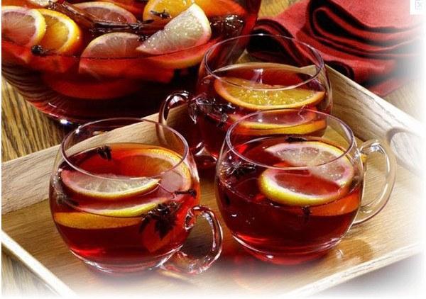 Рецепты с использованием чая. Грузинский чай-пунш «Саперави».