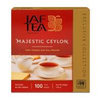 """JAFTEA (Джаф Ти) черный чай """"Маджестик"""" (Majestic) 100 пакетиков по 2г"""