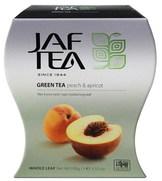 "JAFTEA (Джаф Ти) зеленый чай ""Персик и Абрикос"" (Peach & Apricot) 100g"