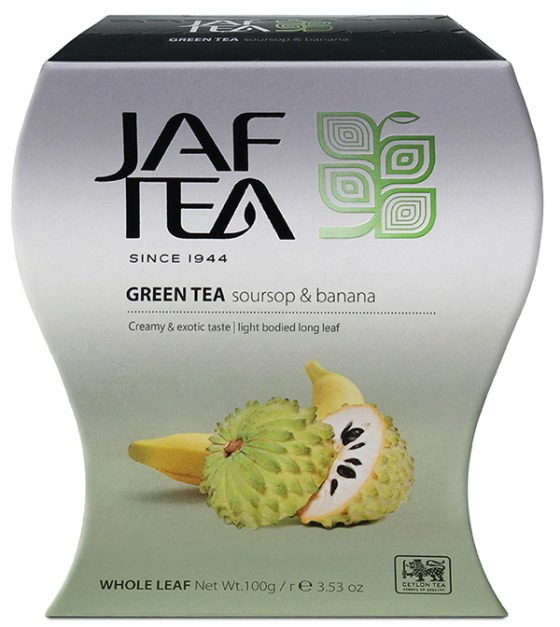 "JAFTEA (Джаф Ти) зеленый чай ""Соусап и Банан"" (Soursop & Banana) 100g"