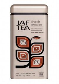 "JAFTEA (Джаф Ти) черный чай ""Английский завтрак"" (English Breakfast) жестяная банка 175g"