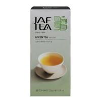 """JAFTEA (Джаф Ти) зеленый чай """"Натуральный"""" (Natural) 25 пакетиков по 2гр"""