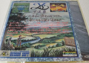 Ys III pc-engine case back cover