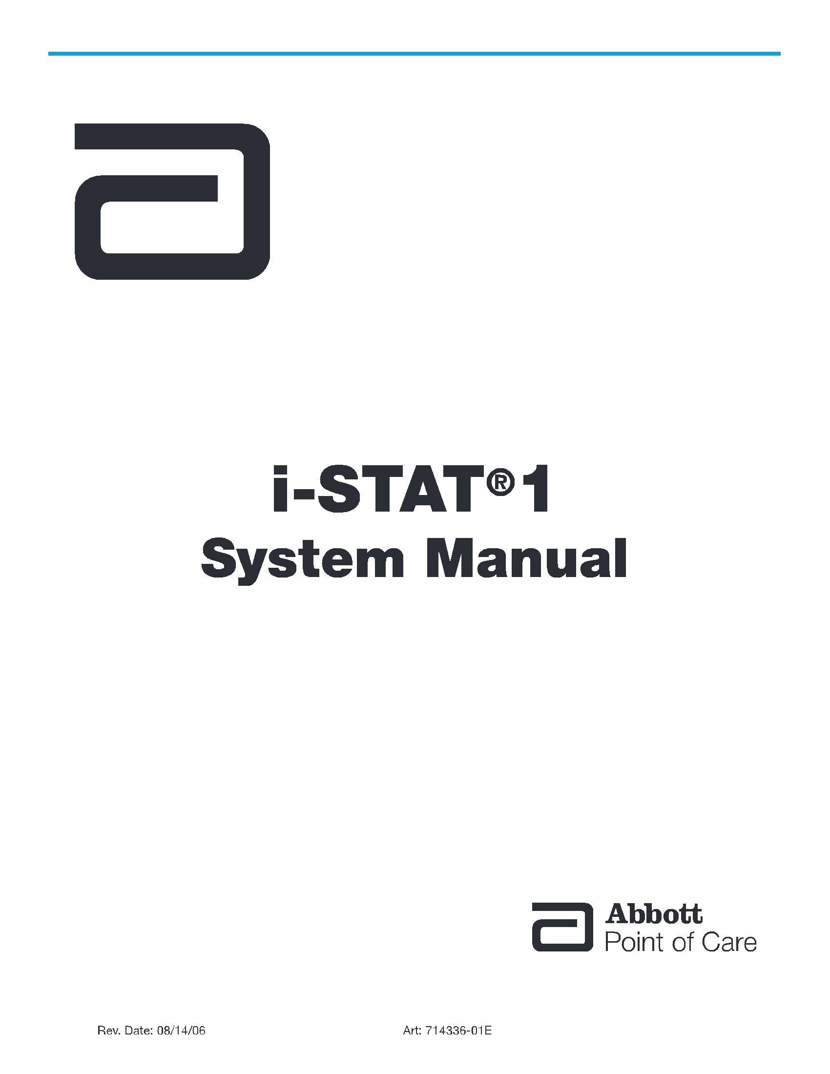 Abbott i-STAT®1 System Manual