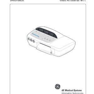 Criticare Vitalcare 506DX Service manual