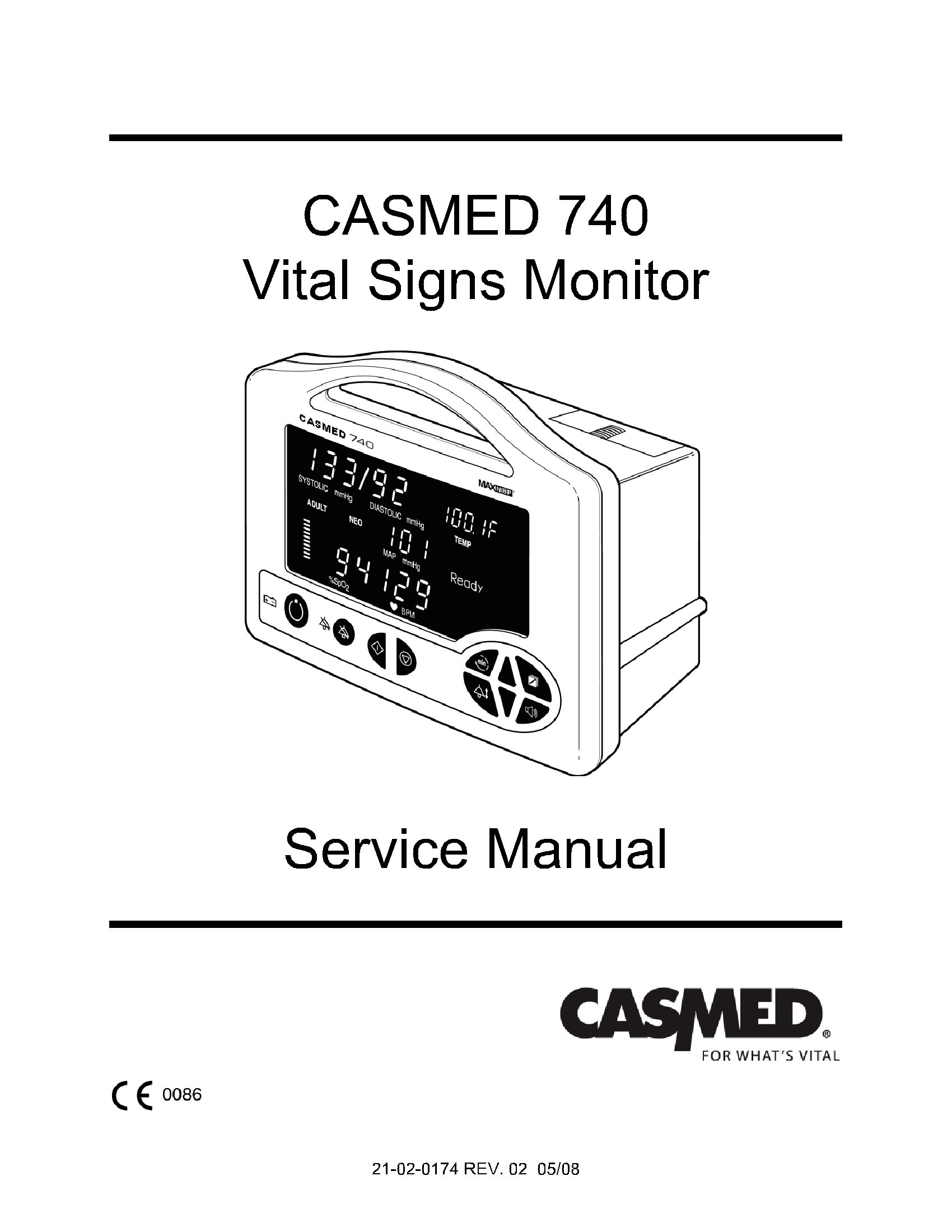 Casmed 740 Service manual