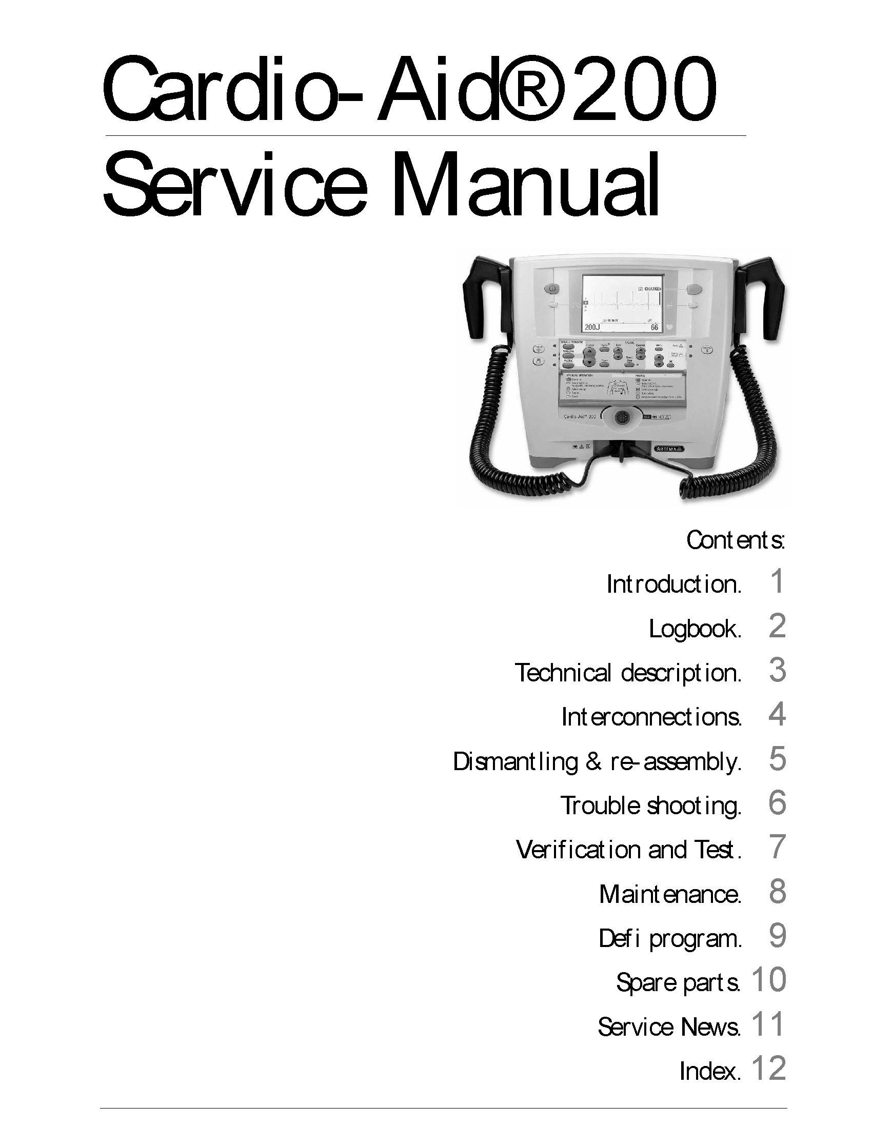 Cardio-Aid® 200 Service Manual