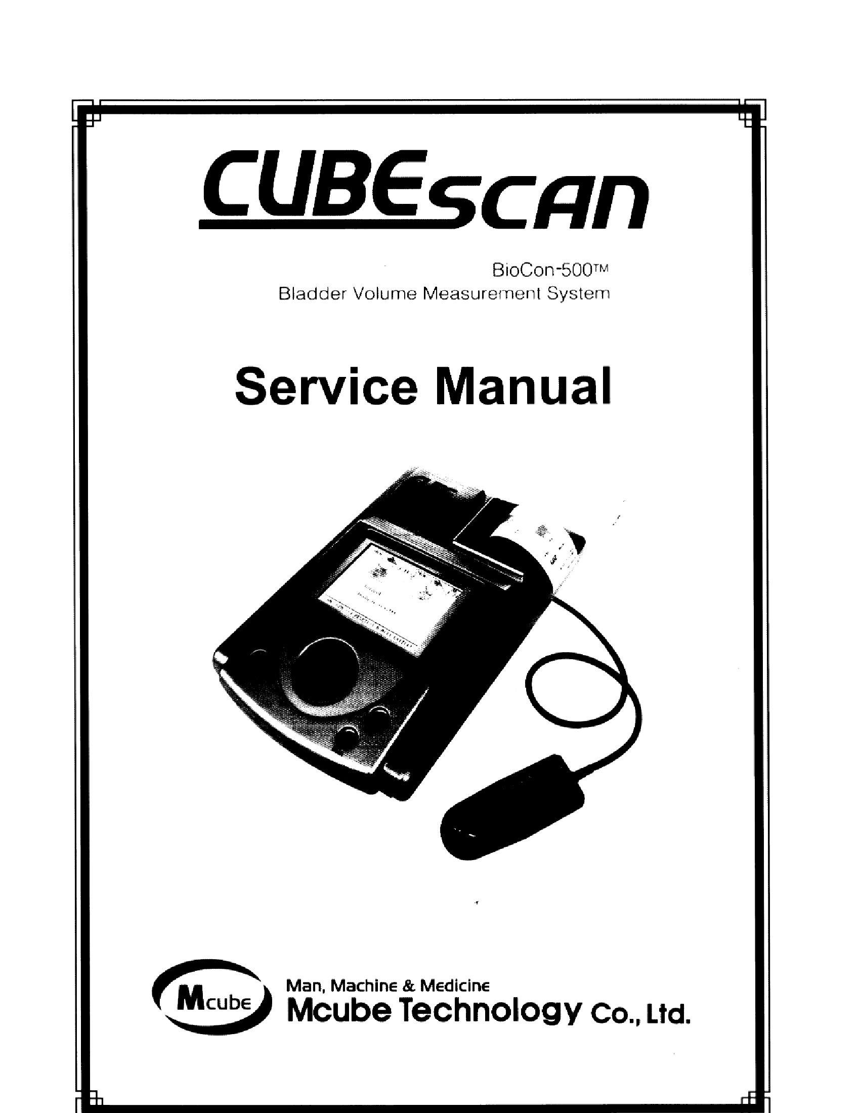 Mcube BioCon 500 Blader Volume System Service Manual