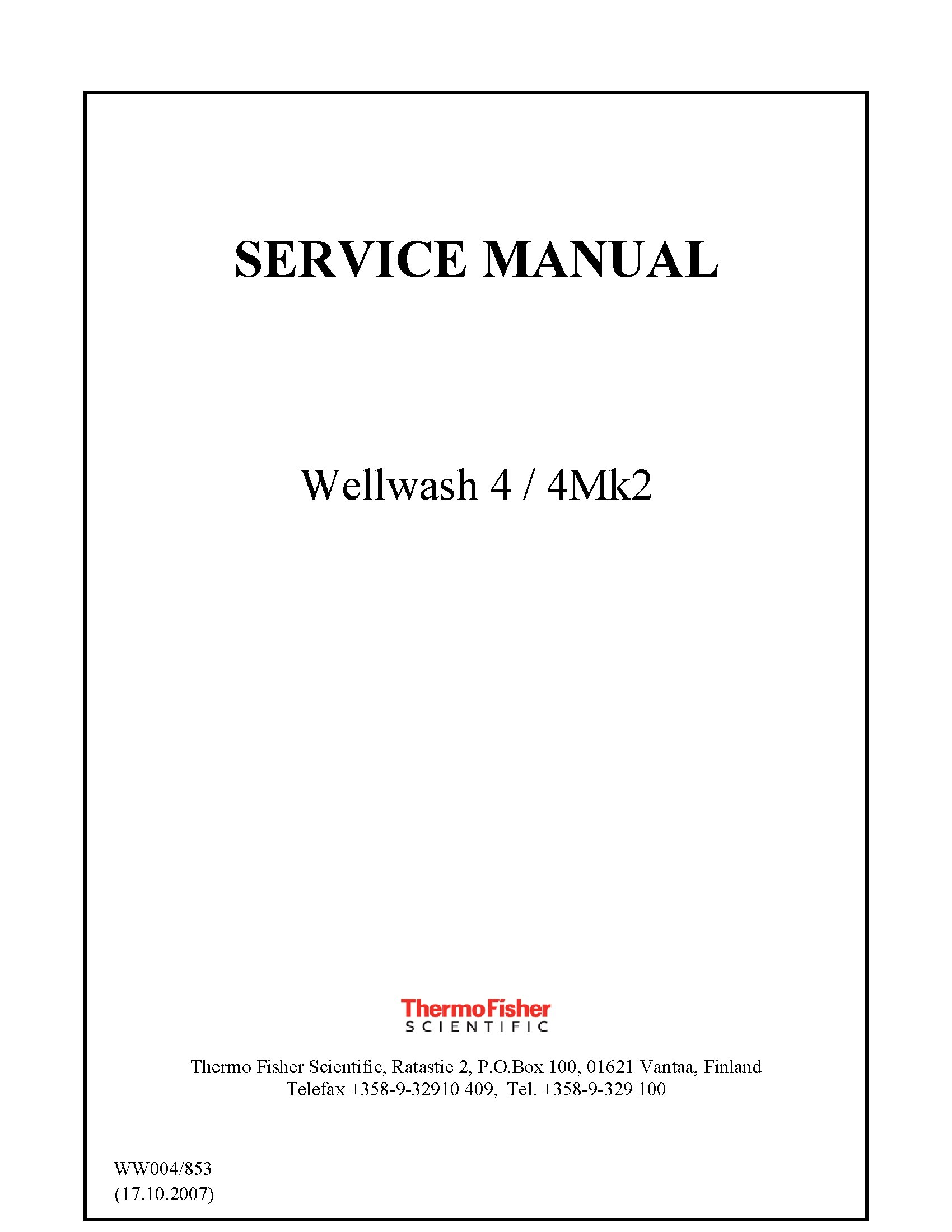 Thermofisher Wellwash 4 Service Manual Golden Biomed