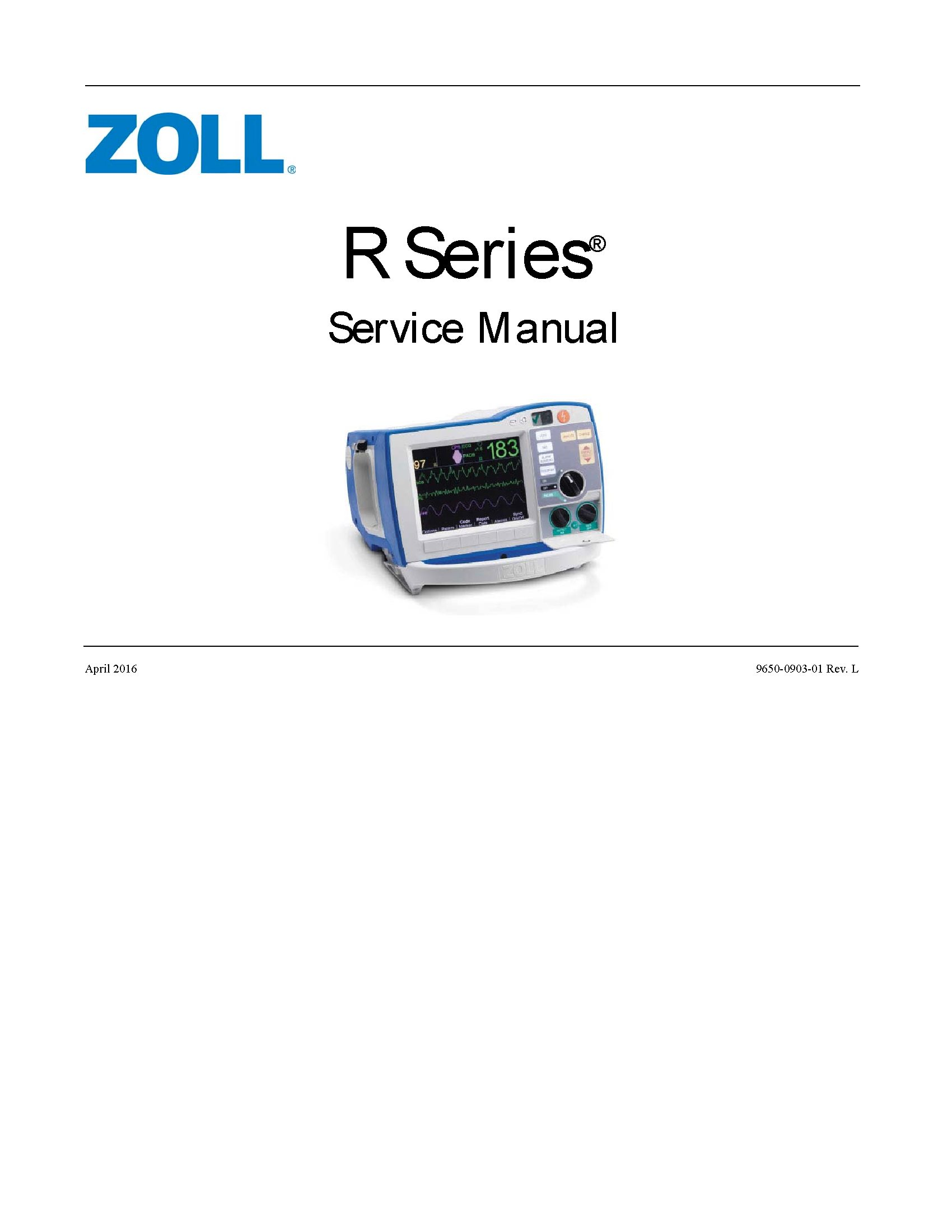 Zoll R Service manual
