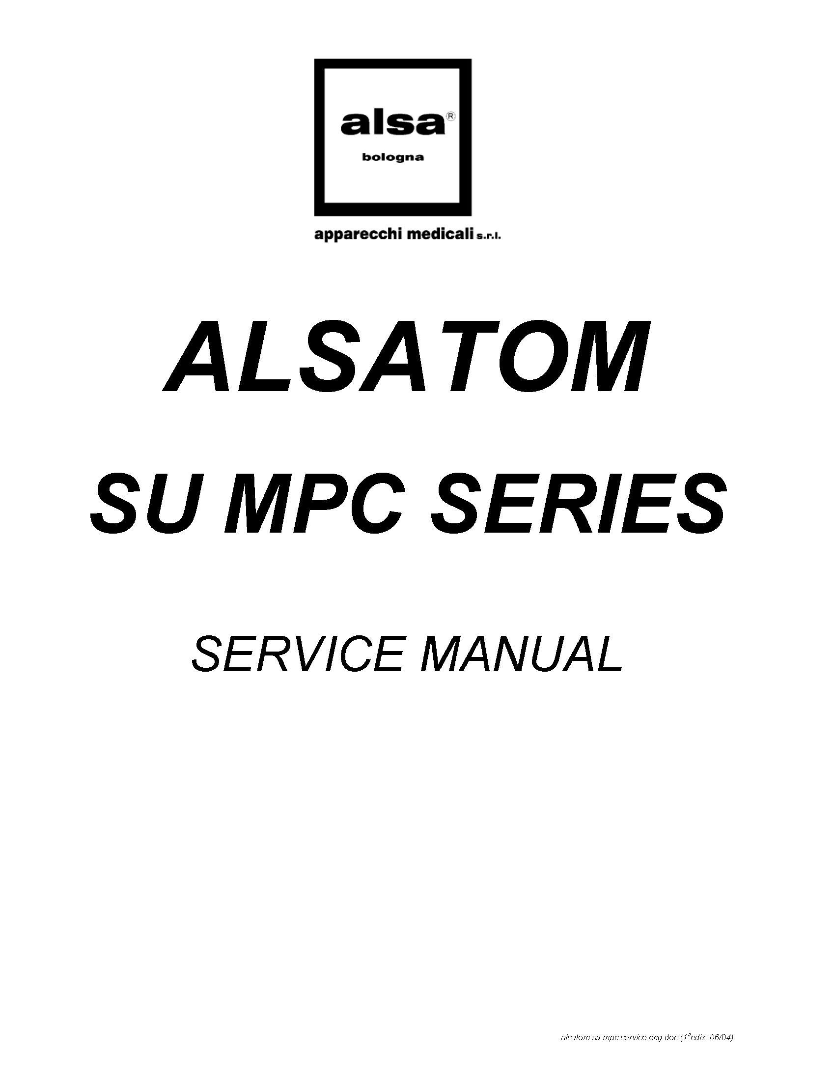 Alsa Alsatom SU, MPC Service manual