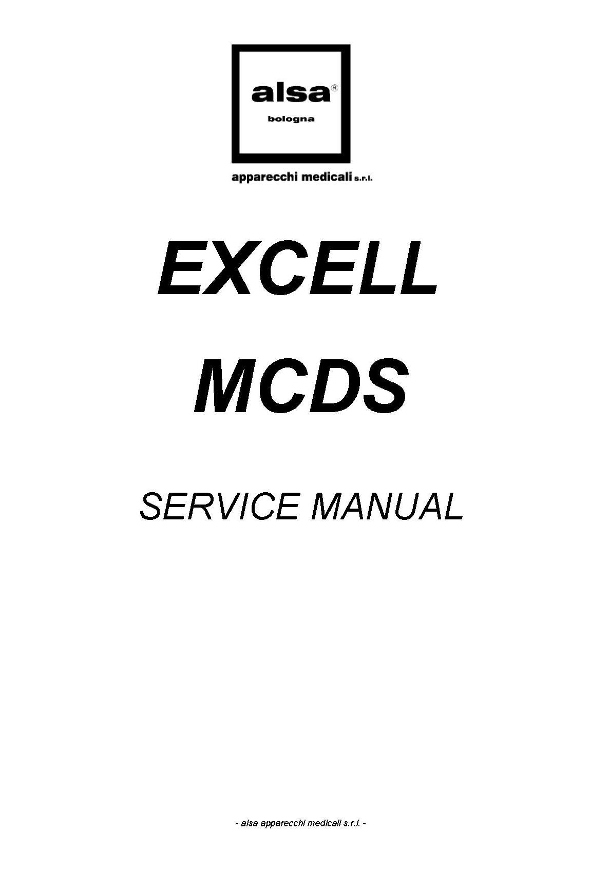 Alsa Alsatom Excell MCDS Service manual