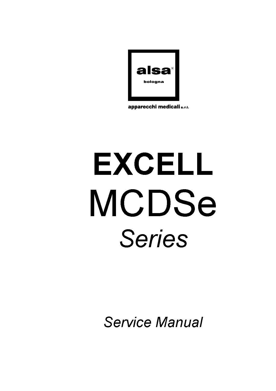 Alsa Alsatom Excell MCDSe Service manual