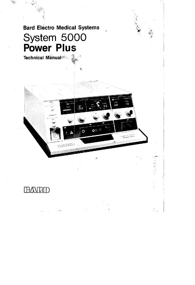 Bard System 5000 Service manual