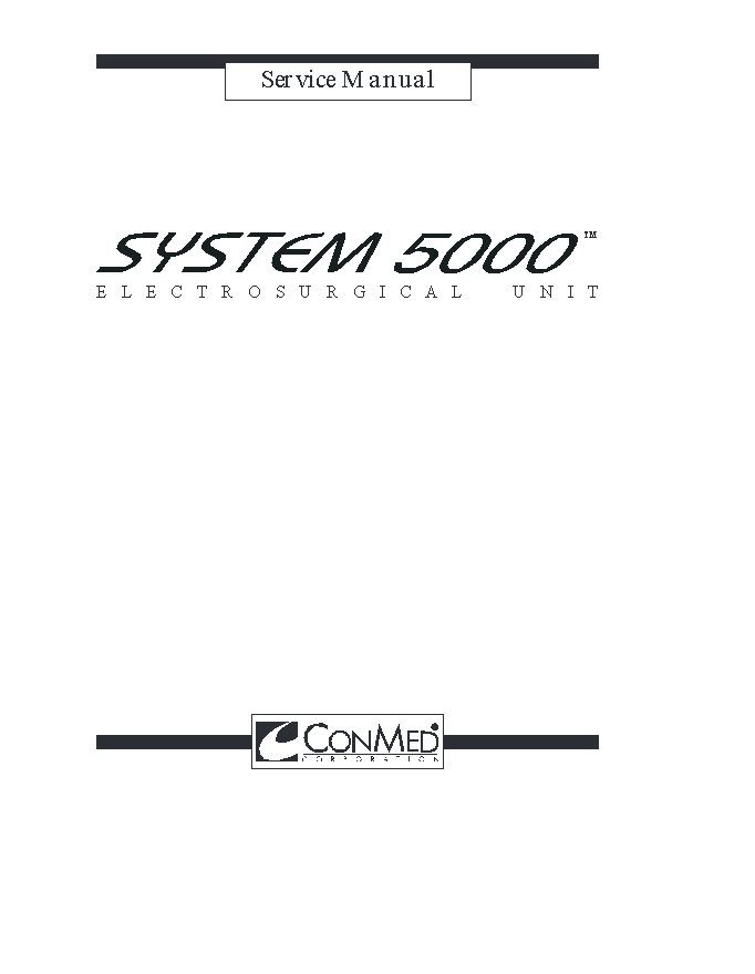 Conmed System 5000 Service manual