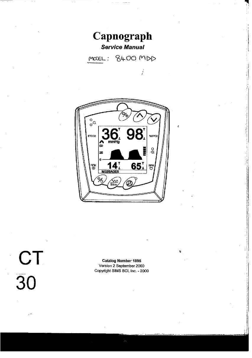 Graseby BCI 8400 Service manual