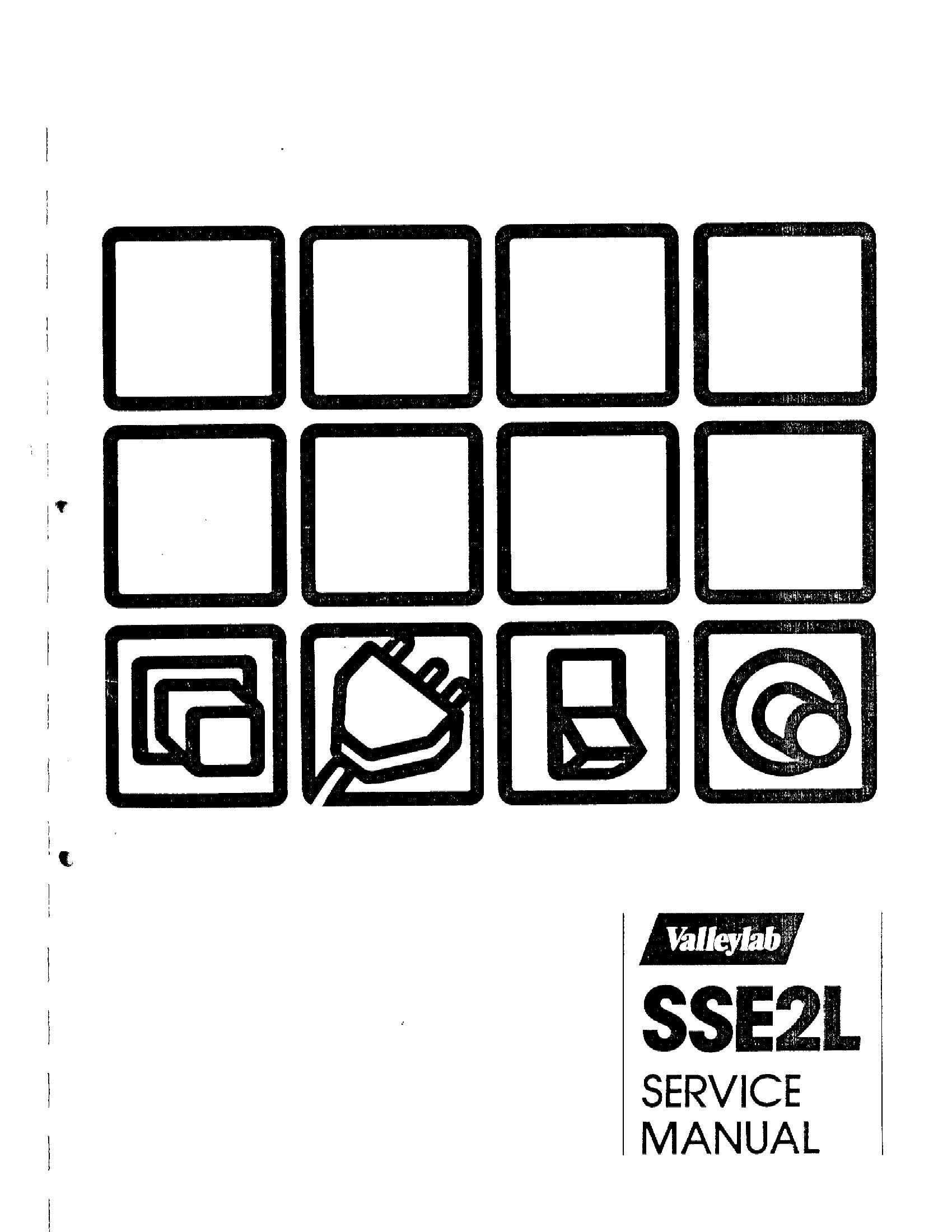 Valleylab SSE 2 L Service manual (1982)