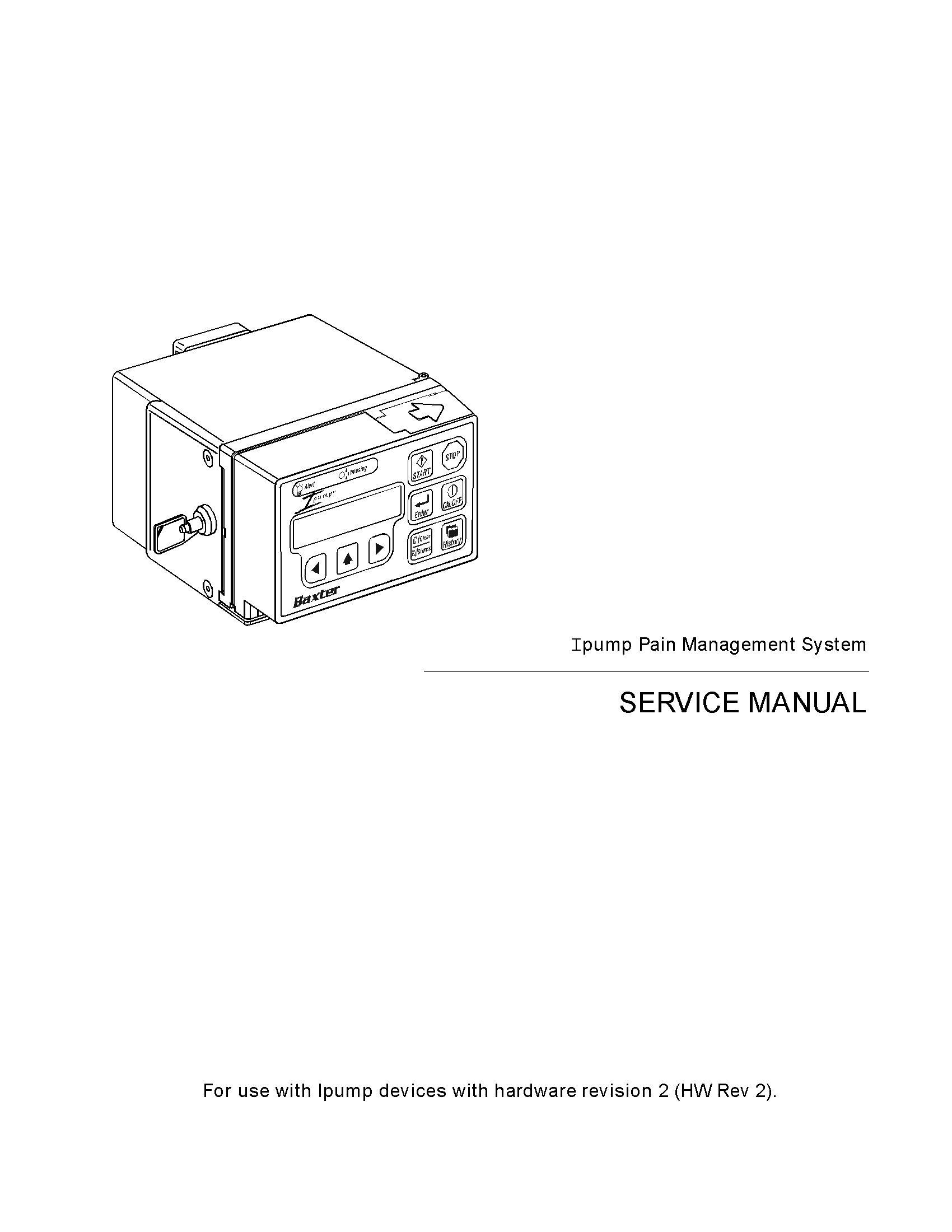 Baxter IPump Pain Management Service manual
